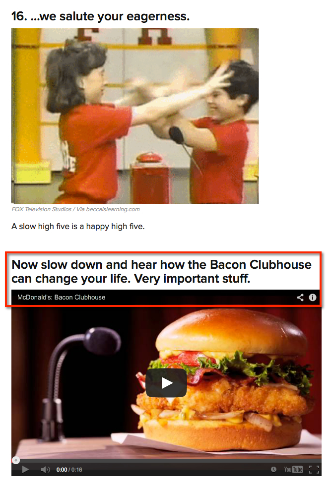 mcdonald's promoted post on buzzfeed 2