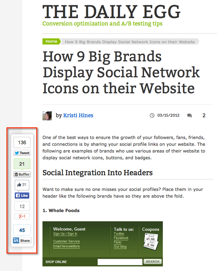 crazyegg blog social share buttons
