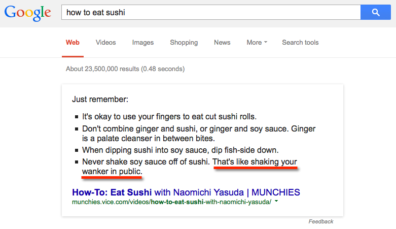 google answers how to eat sushi