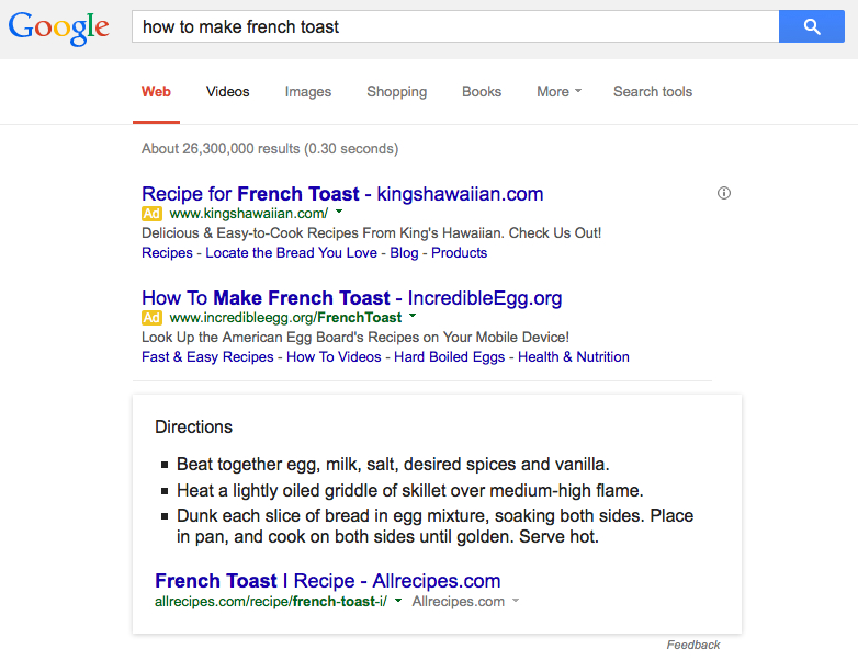 google answers how to make french toast