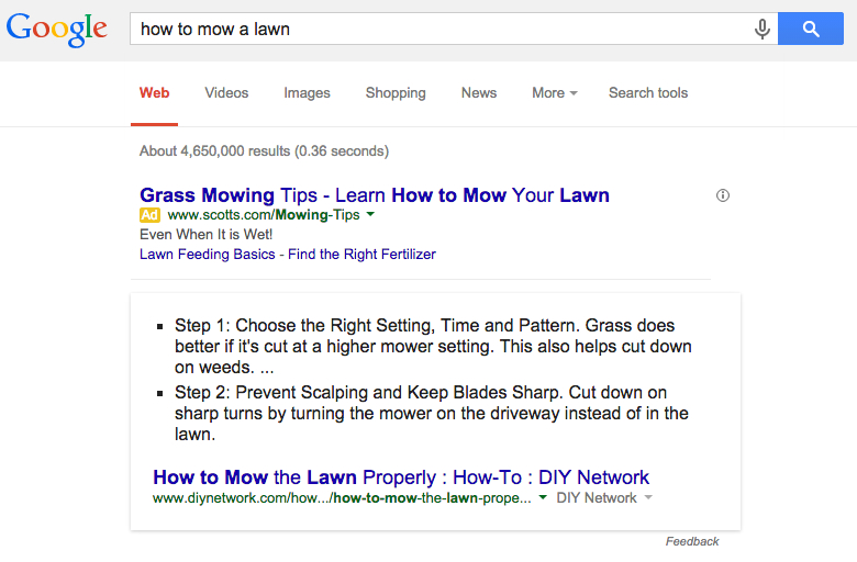 google answers how to mow lawn