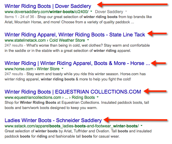 winter riding boots serp