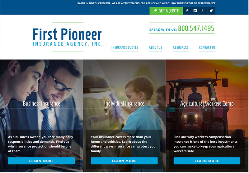 first-pioneer-insurance-agency-website