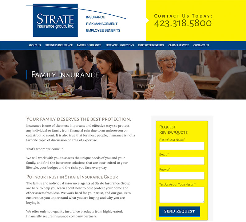 strate-insurance-group-website